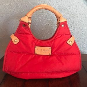 Kate Spade Authentic red quilt purse
